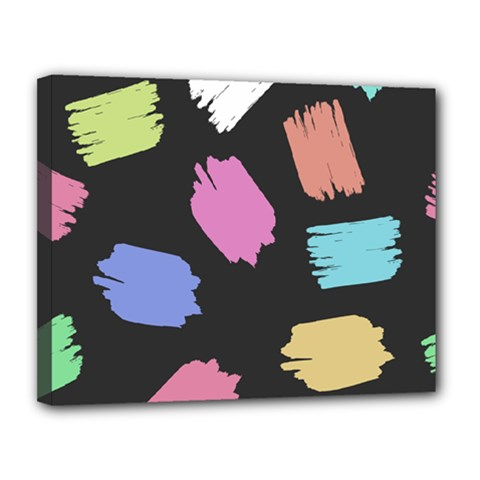 Many Colors Pattern Seamless Canvas 14  X 11