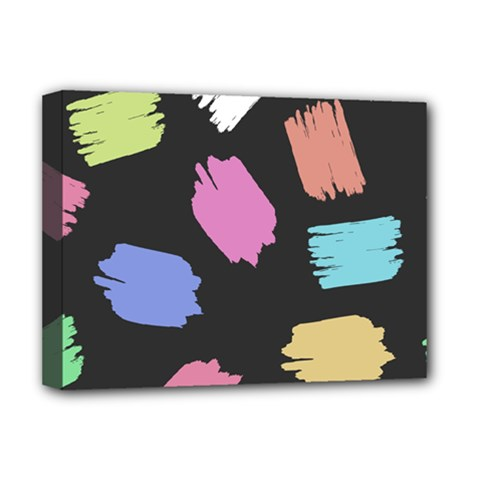 Many Colors Pattern Seamless Deluxe Canvas 16  X 12