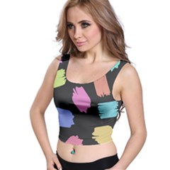 Many Colors Pattern Seamless Crop Top
