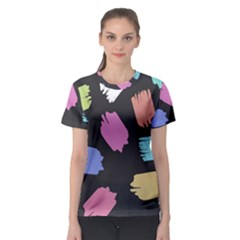 Many Colors Pattern Seamless Women s Sport Mesh Tee