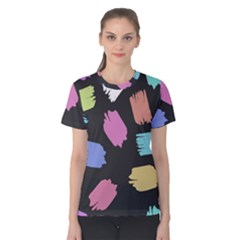Many Colors Pattern Seamless Women s Cotton Tee