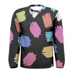 Many Colors Pattern Seamless Men s Long Sleeve Tee