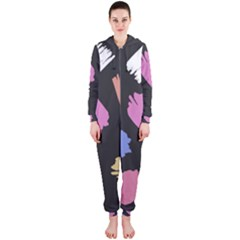 Many Colors Pattern Seamless Hooded Jumpsuit (ladies)