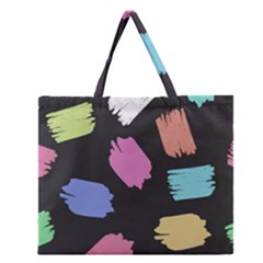 Many Colors Pattern Seamless Zipper Large Tote Bag