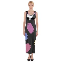 Many Colors Pattern Seamless Fitted Maxi Dress