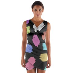 Many Colors Pattern Seamless Wrap Front Bodycon Dress