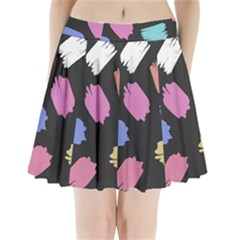 Many Colors Pattern Seamless Pleated Mini Skirt