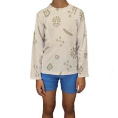 Pattern Culture Seamless American Kids  Long Sleeve Swimwear