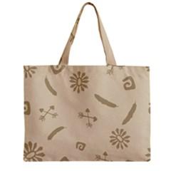Pattern Culture Seamless American Zipper Mini Tote Bag