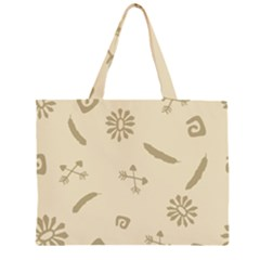 Pattern Culture Seamless American Large Tote Bag