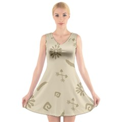 Pattern Culture Seamless American V Neck Sleeveless Skater Dress