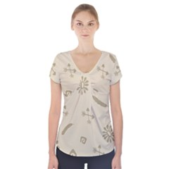 Pattern Culture Seamless American Short Sleeve Front Detail Top