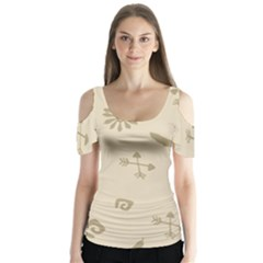 Pattern Culture Seamless American Butterfly Sleeve Cutout Tee