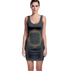 Monogram Vector Logo Round Sleeveless Bodycon Dress