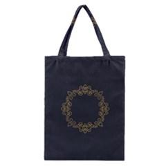 Monogram Vector Logo Round Classic Tote Bag