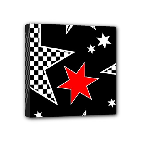 Stars Seamless Pattern Background Mini Canvas 4  X 4