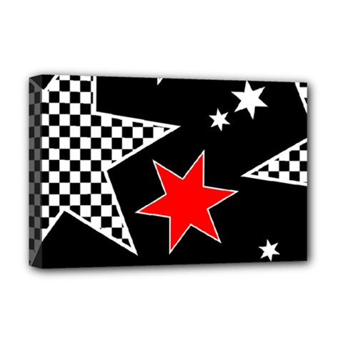 Stars Seamless Pattern Background Deluxe Canvas 18  X 12