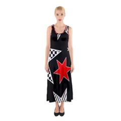 Stars Seamless Pattern Background Sleeveless Maxi Dress