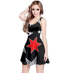 Stars Seamless Pattern Background Reversible Sleeveless Dress