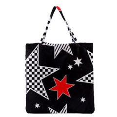 Stars Seamless Pattern Background Grocery Tote Bag