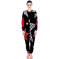 Stars Seamless Pattern Background Onepiece Jumpsuit (ladies)