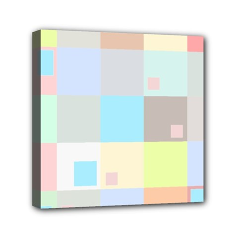 Pastel Diamonds Background Mini Canvas 6  x 6