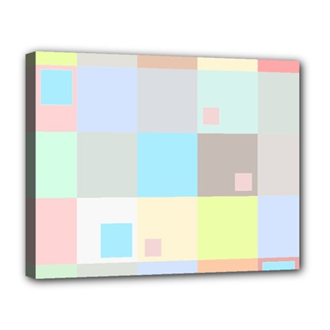 Pastel Diamonds Background Canvas 14  x 11