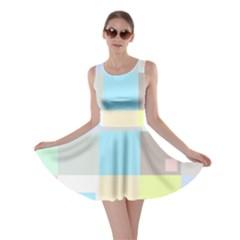 Pastel Diamonds Background Skater Dress