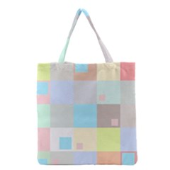 Pastel Diamonds Background Grocery Tote Bag