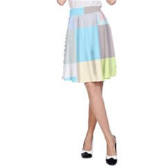 Pastel Diamonds Background A-Line Skirt