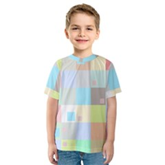 Pastel Diamonds Background Kids  Sport Mesh Tee