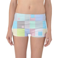 Pastel Diamonds Background Reversible Bikini Bottoms