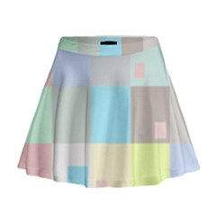 Pastel Diamonds Background Mini Flare Skirt