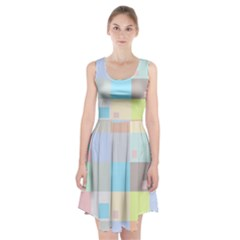 Pastel Diamonds Background Racerback Midi Dress