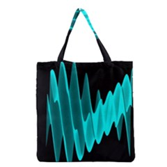Wave Pattern Vector Design Grocery Tote Bag