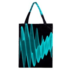 Wave Pattern Vector Design Classic Tote Bag
