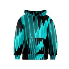 Wave Pattern Vector Design Kids  Pullover Hoodie