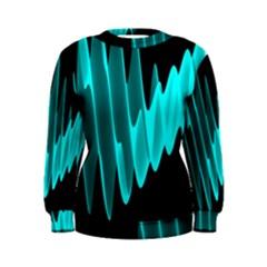 Wave Pattern Vector Design Women s Sweatshirt