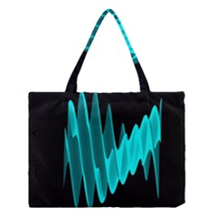 Wave Pattern Vector Design Medium Tote Bag