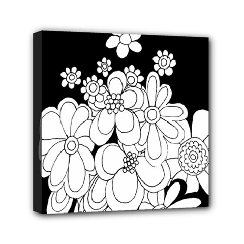 Mandala Calming Coloring Page Mini Canvas 6  x 6