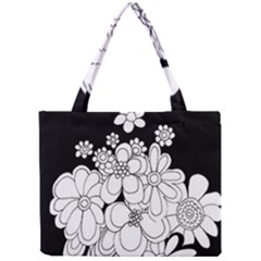 Mandala Calming Coloring Page Mini Tote Bag