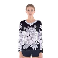 Mandala Calming Coloring Page Women s Long Sleeve Tee