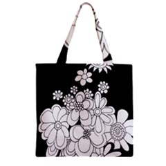 Mandala Calming Coloring Page Zipper Grocery Tote Bag