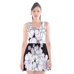 Mandala Calming Coloring Page Scoop Neck Skater Dress