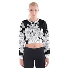 Mandala Calming Coloring Page Cropped Sweatshirt