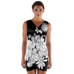 Mandala Calming Coloring Page Wrap Front Bodycon Dress