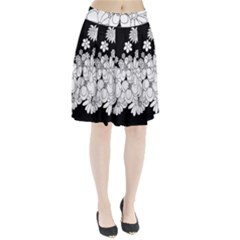 Mandala Calming Coloring Page Pleated Skirt