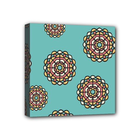 Circle Vector Background Abstract Mini Canvas 4  x 4
