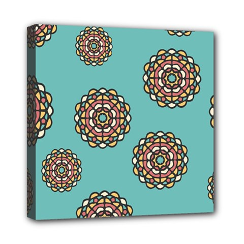 Circle Vector Background Abstract Mini Canvas 8  X 8