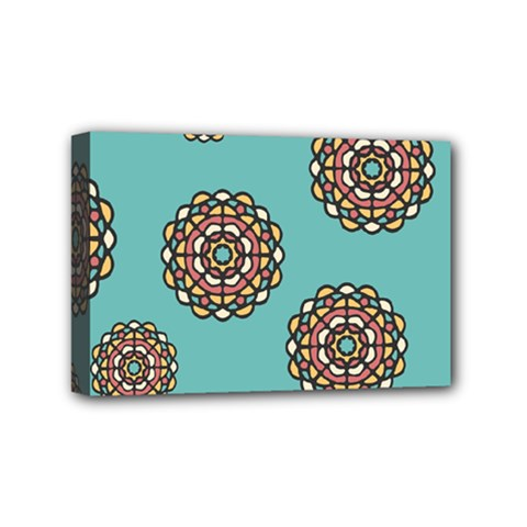 Circle Vector Background Abstract Mini Canvas 6  x 4